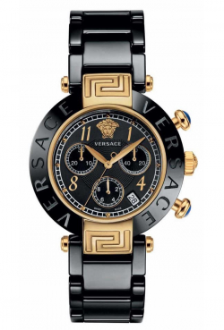V E R S A C E Chronograph ceramic gold black ЭМЭГТЭЙ КОД 8968579